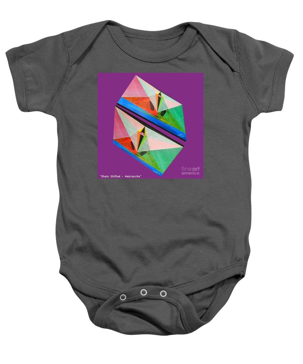 Spirituality Baby Onesie featuring the painting Shots Shifted - Matriarche 1 by Michael Bellon