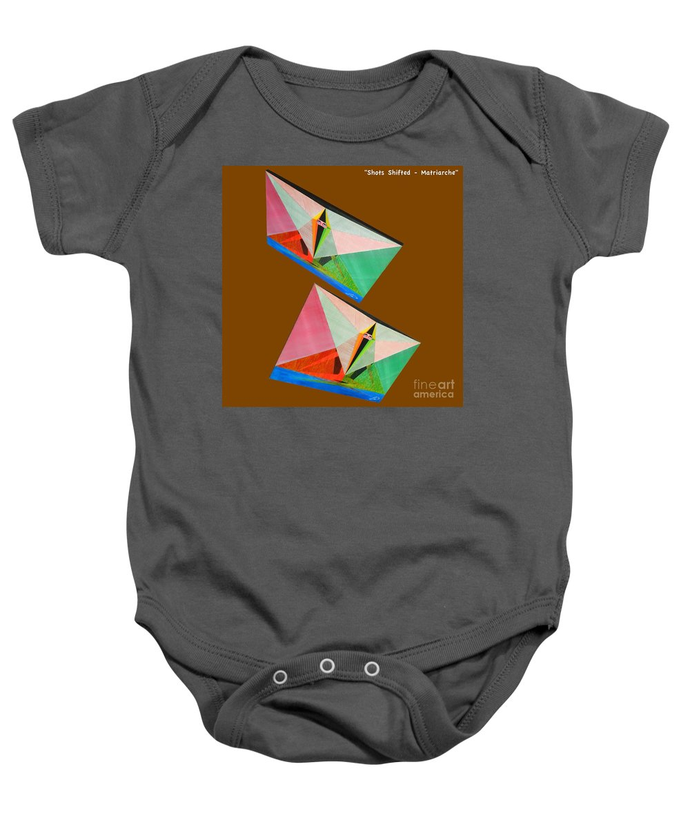Spirituality Baby Onesie featuring the painting Shots Shifted - Matriarche 5 by Michael Bellon