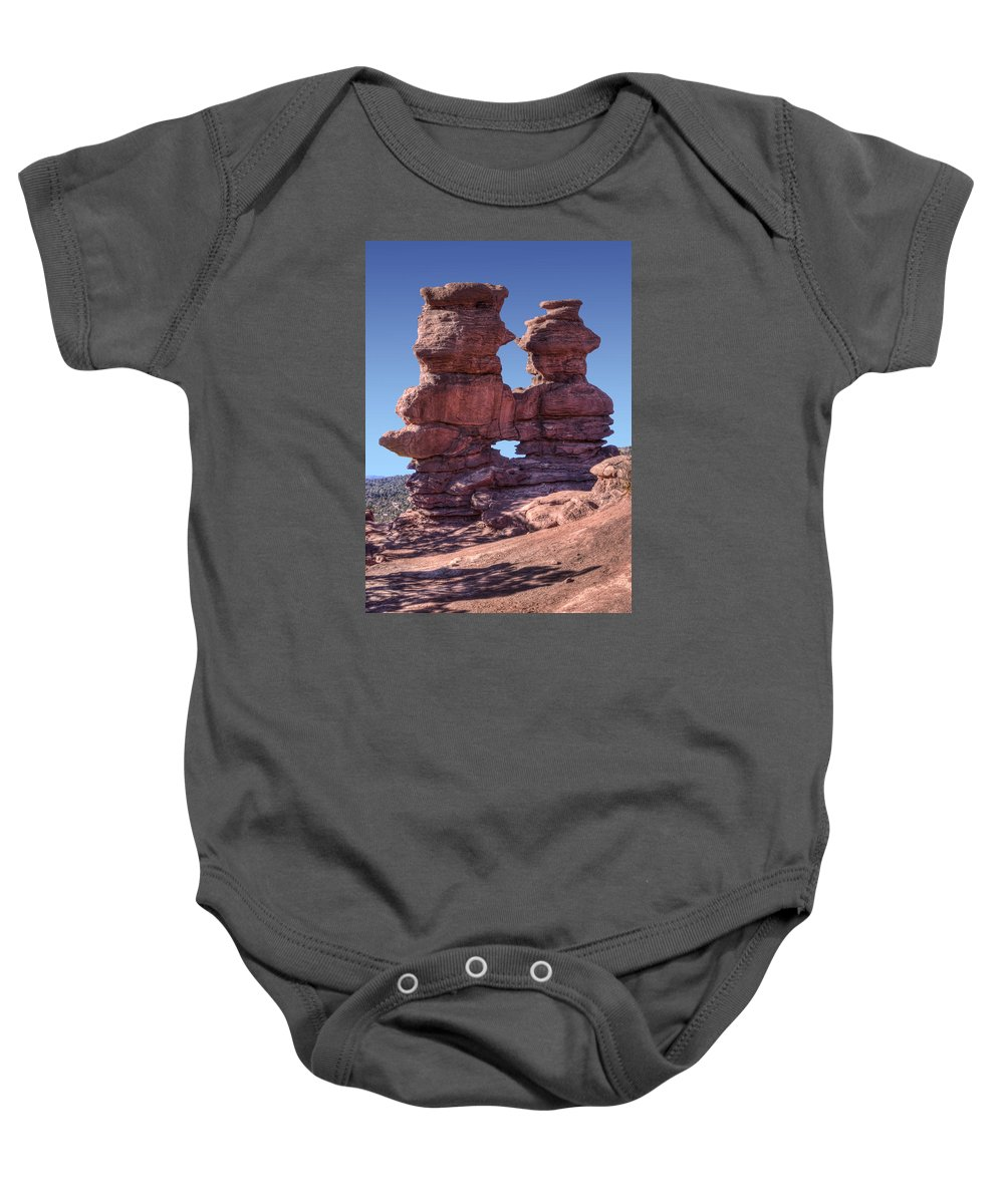 Siamese Twins Baby Onesie featuring the photograph Siamese Twins by Nikolyn McDonald