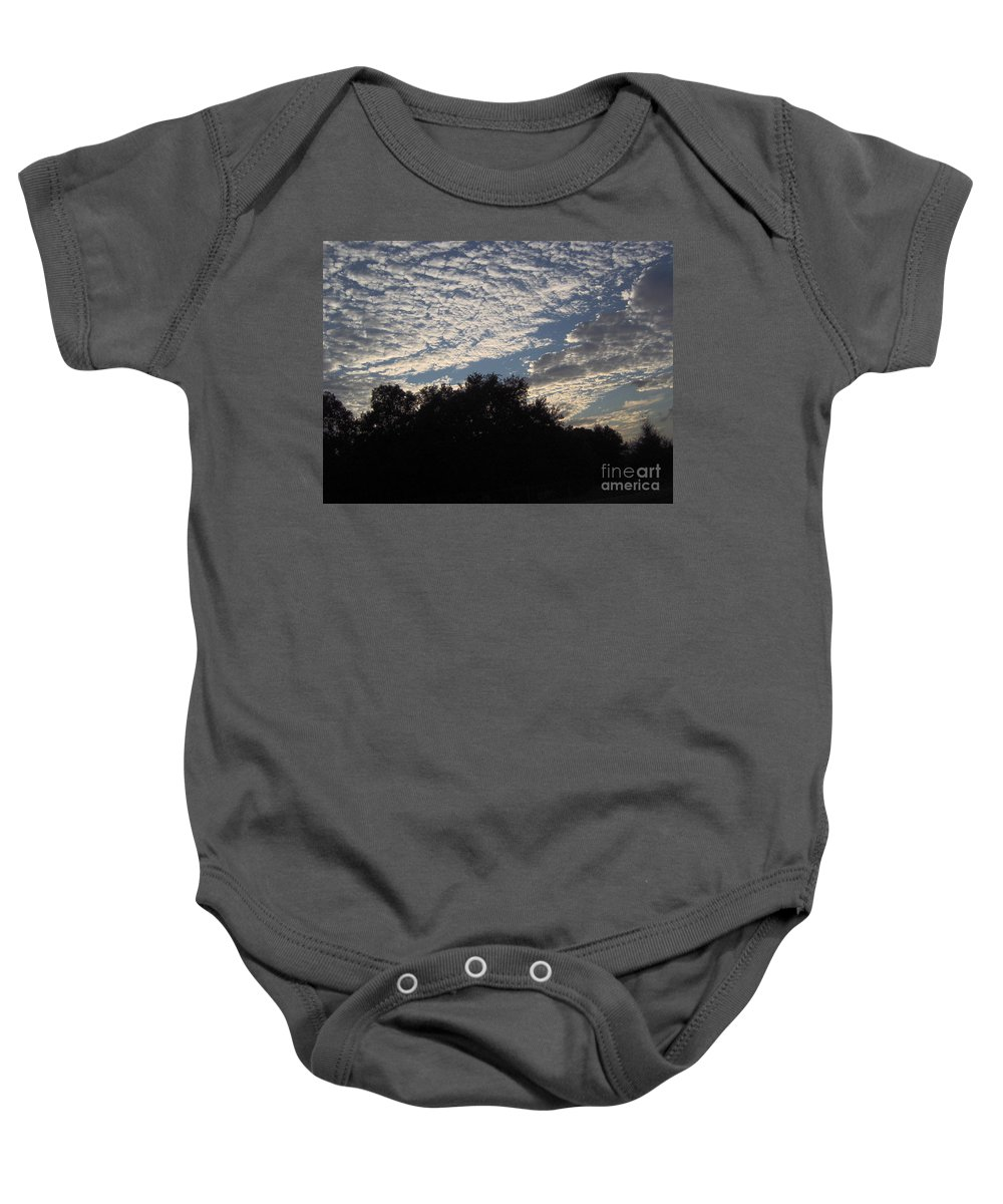 Clouds Baby Onesie featuring the photograph Silver Clouds by D Hackett