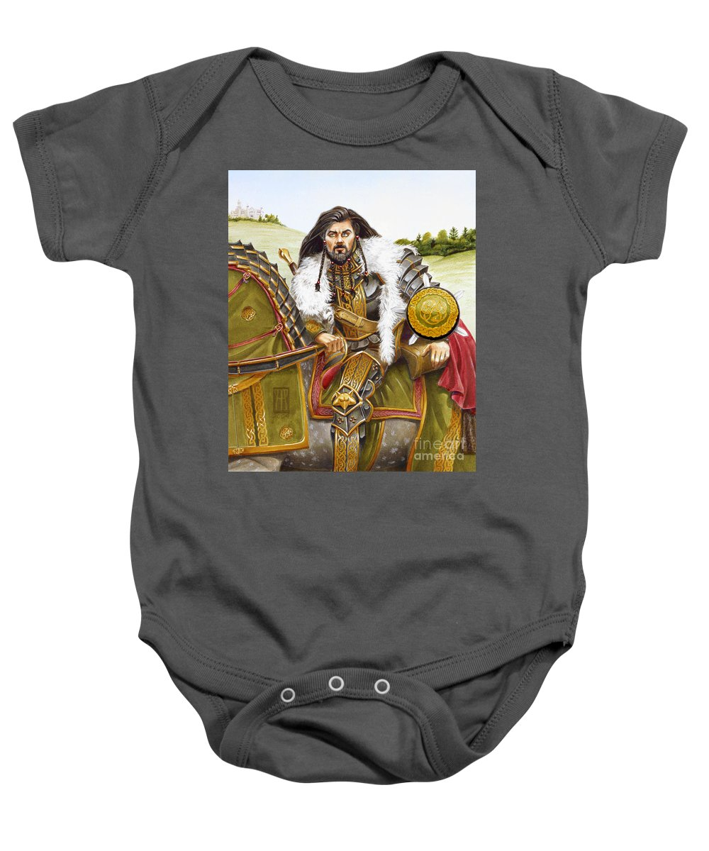 Fine Art Baby Onesie featuring the painting Sir Marhaus by Melissa A Benson
