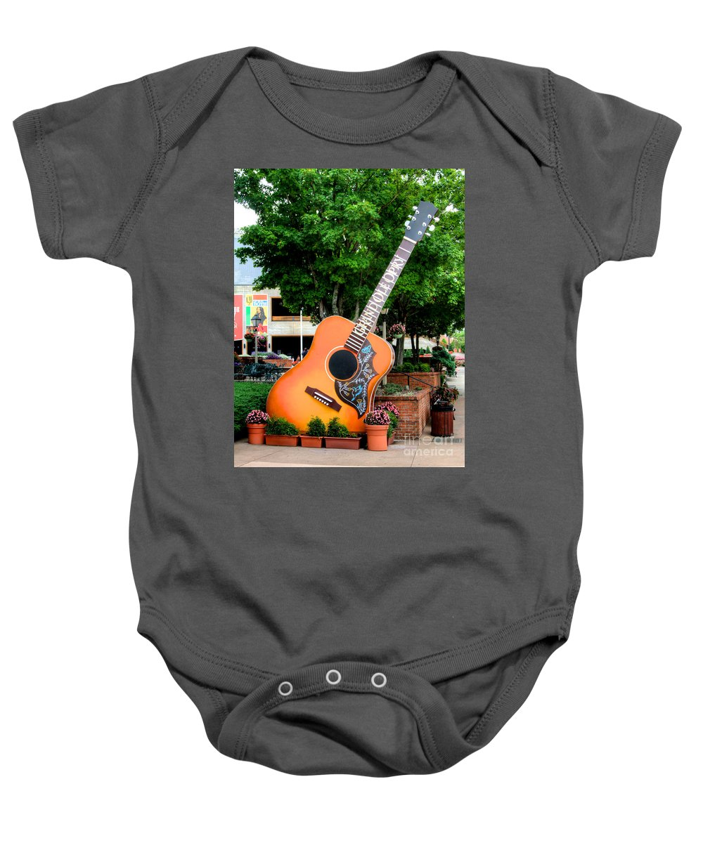 Oprey Baby Onesie featuring the photograph Six String by Robert Pearson
