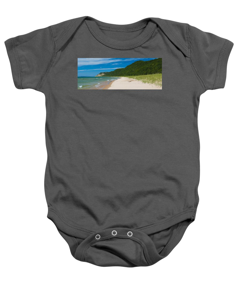 Clouds Baby Onesie featuring the photograph Sleeping Bear Dunes National Lakeshore by Sebastian Musial