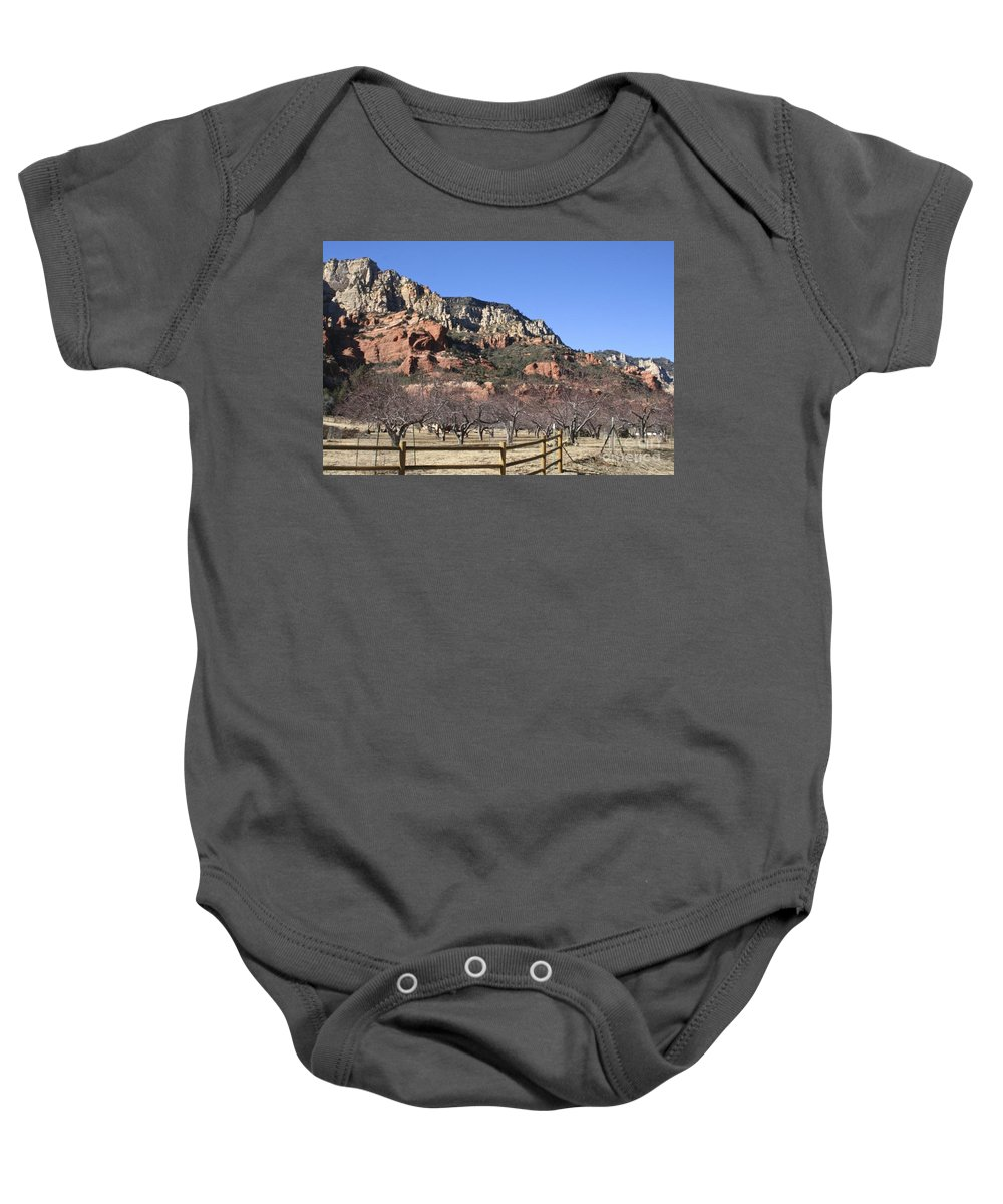 Slide Baby Onesie featuring the photograph Slide Rock by Christy Gendalia