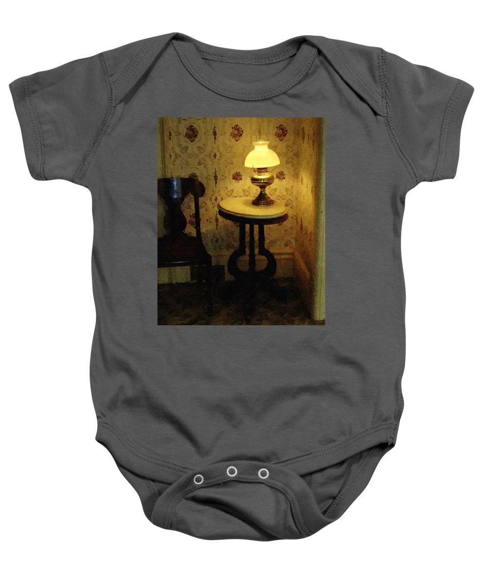 Antiques Baby Onesie featuring the painting Slightly Tipsy by RC DeWinter