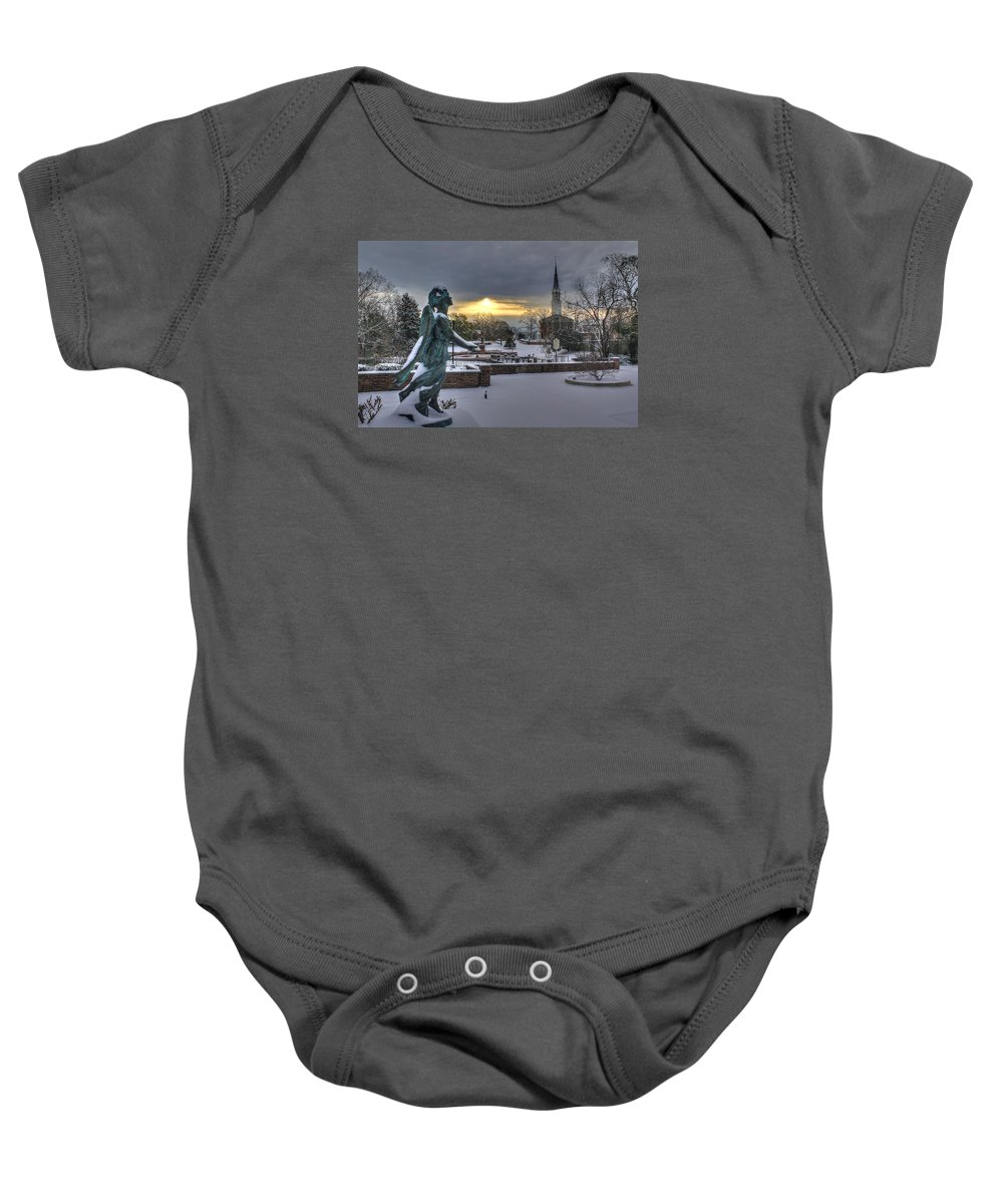 Snow Baby Onesie featuring the photograph Fayetteville Nc 7 by Albert Fadel