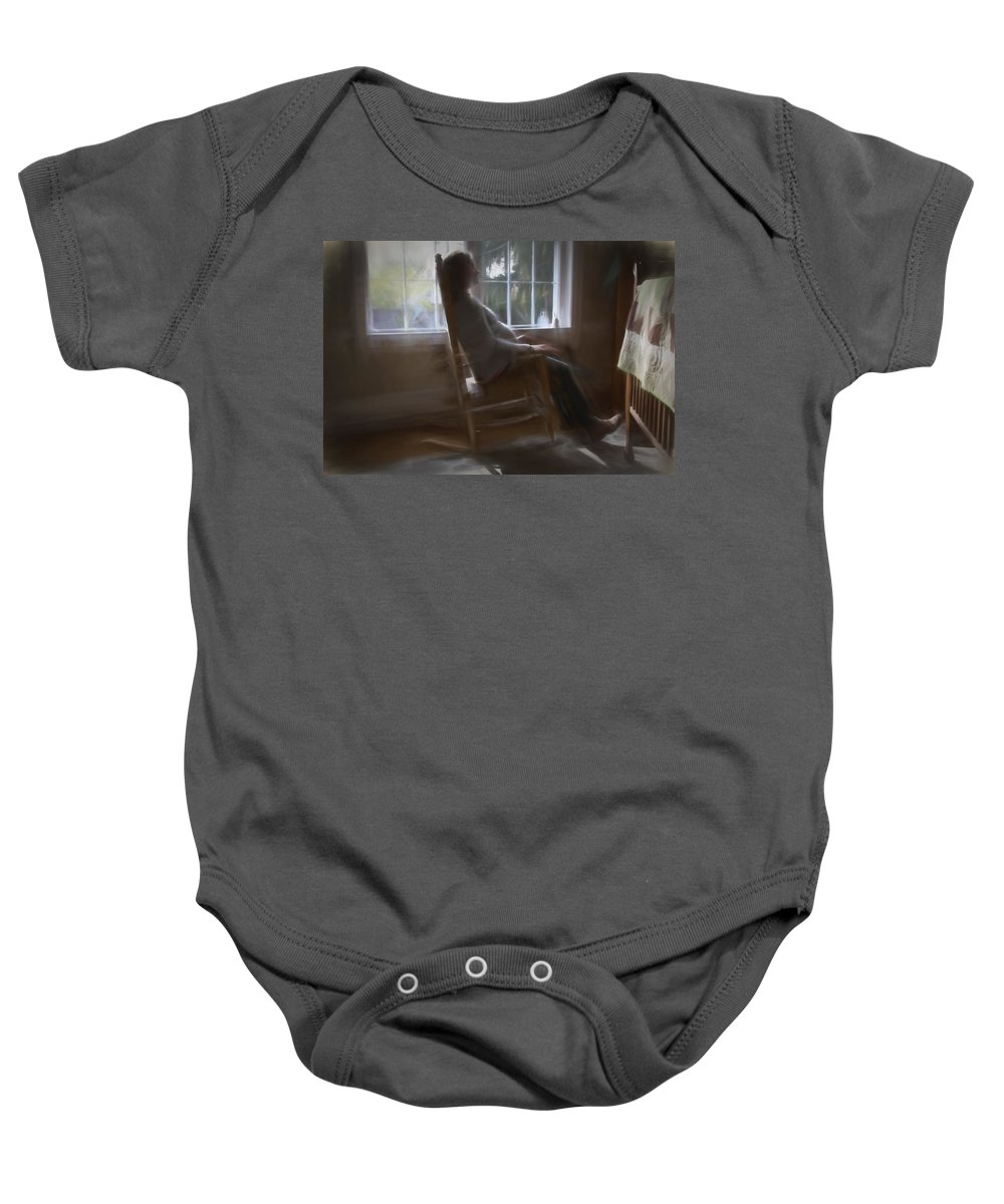Mother Baby Onesie featuring the photograph Soon by Alice Gipson