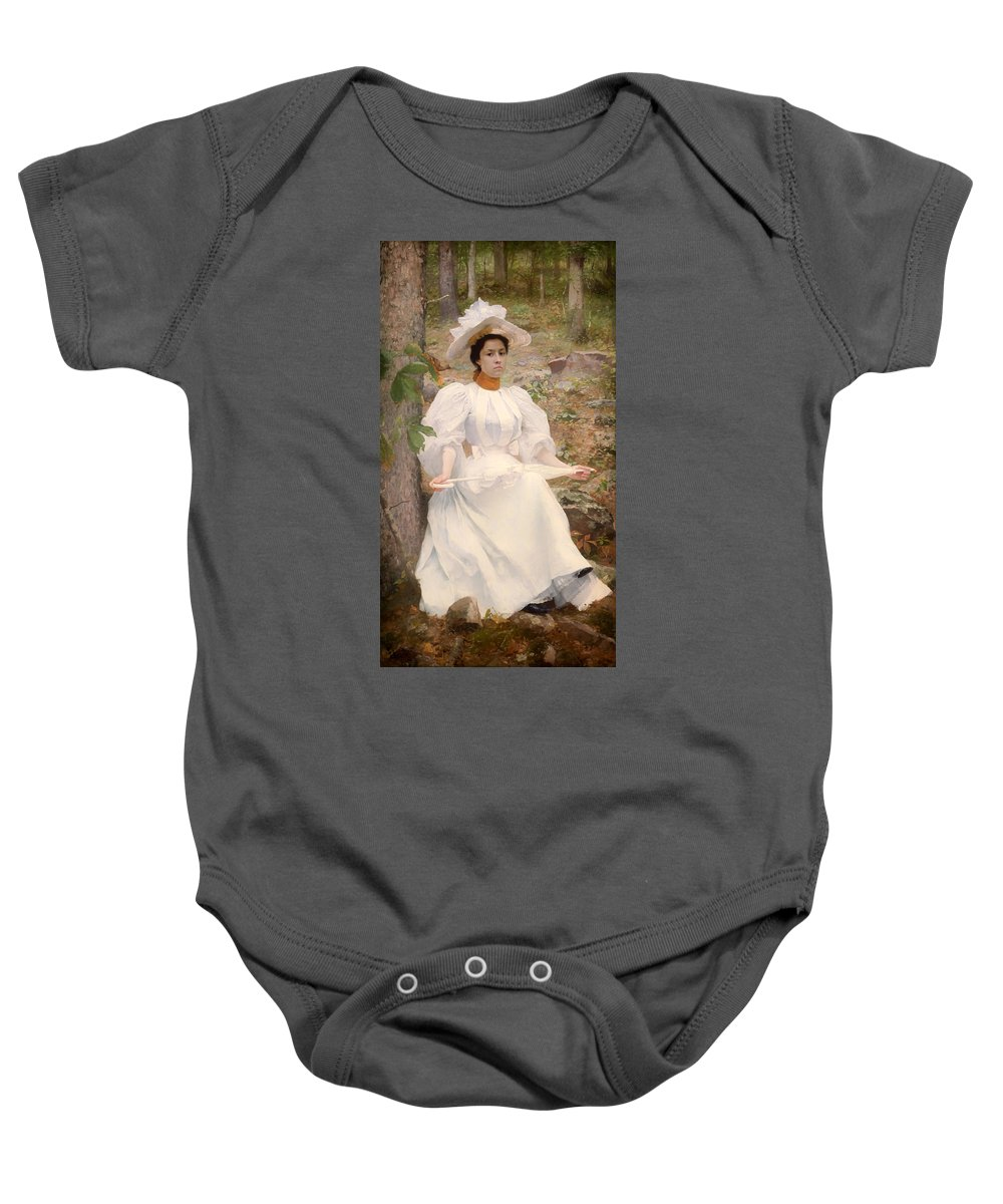 Painting Baby Onesie featuring the painting Sophie Hunter Colston by Mountain Dreams