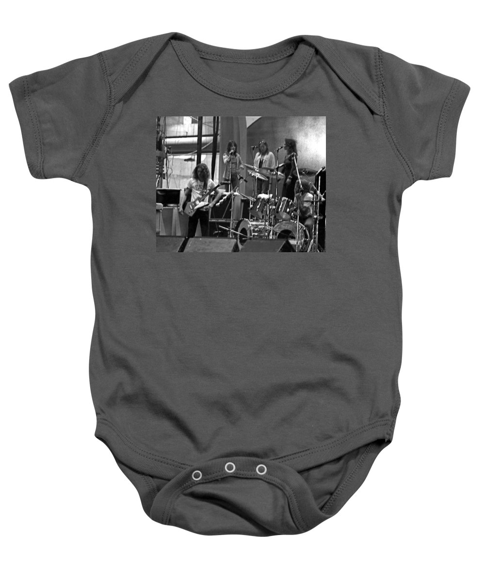 Lynyrd Skynyrd Baby Onesie featuring the photograph Soundcheck #9 Crop 2 by Ben Upham