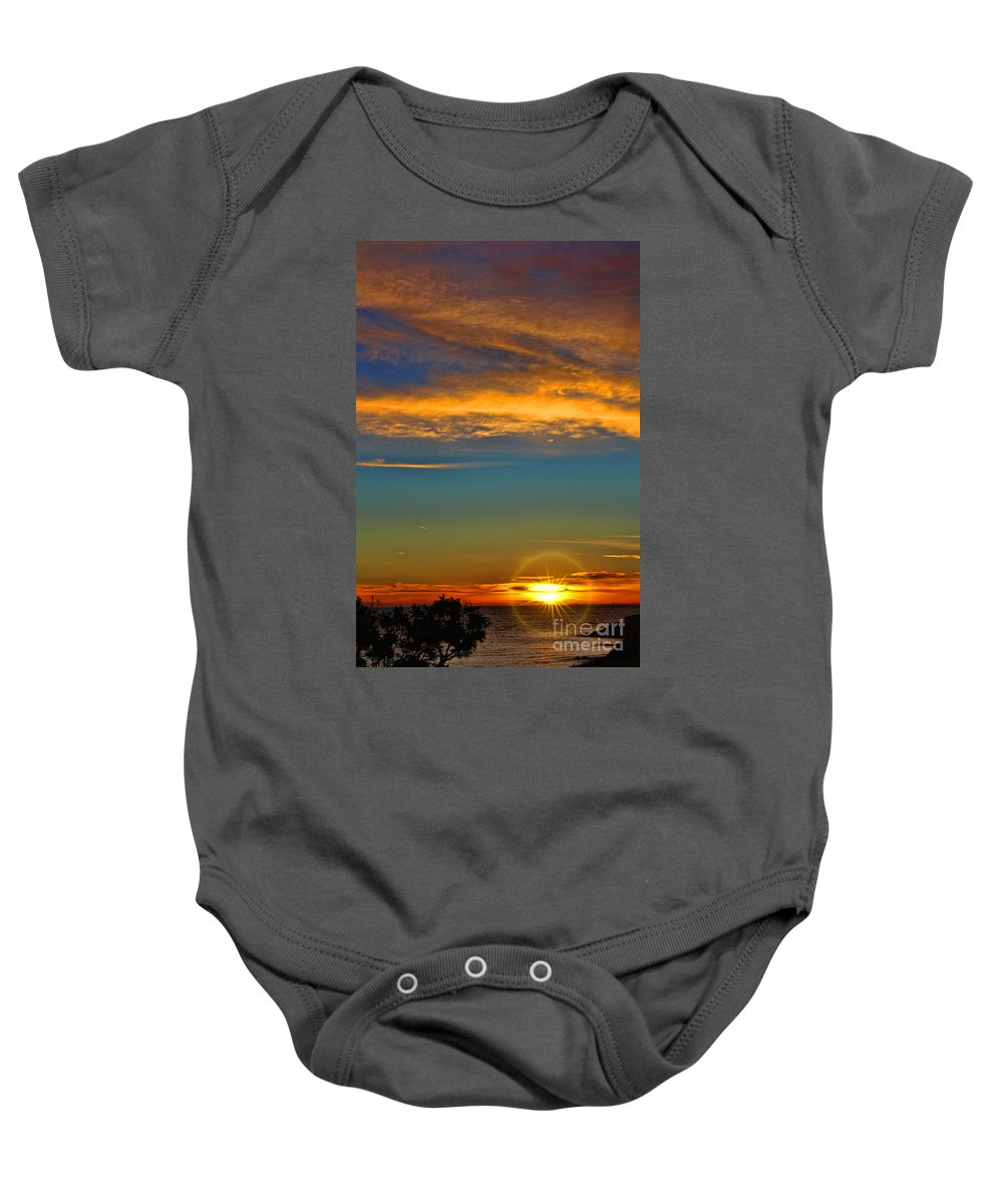 Southern California's Baby Onesie featuring the photograph Southern California's Wafarers Chapel 5 by Tommy Anderson