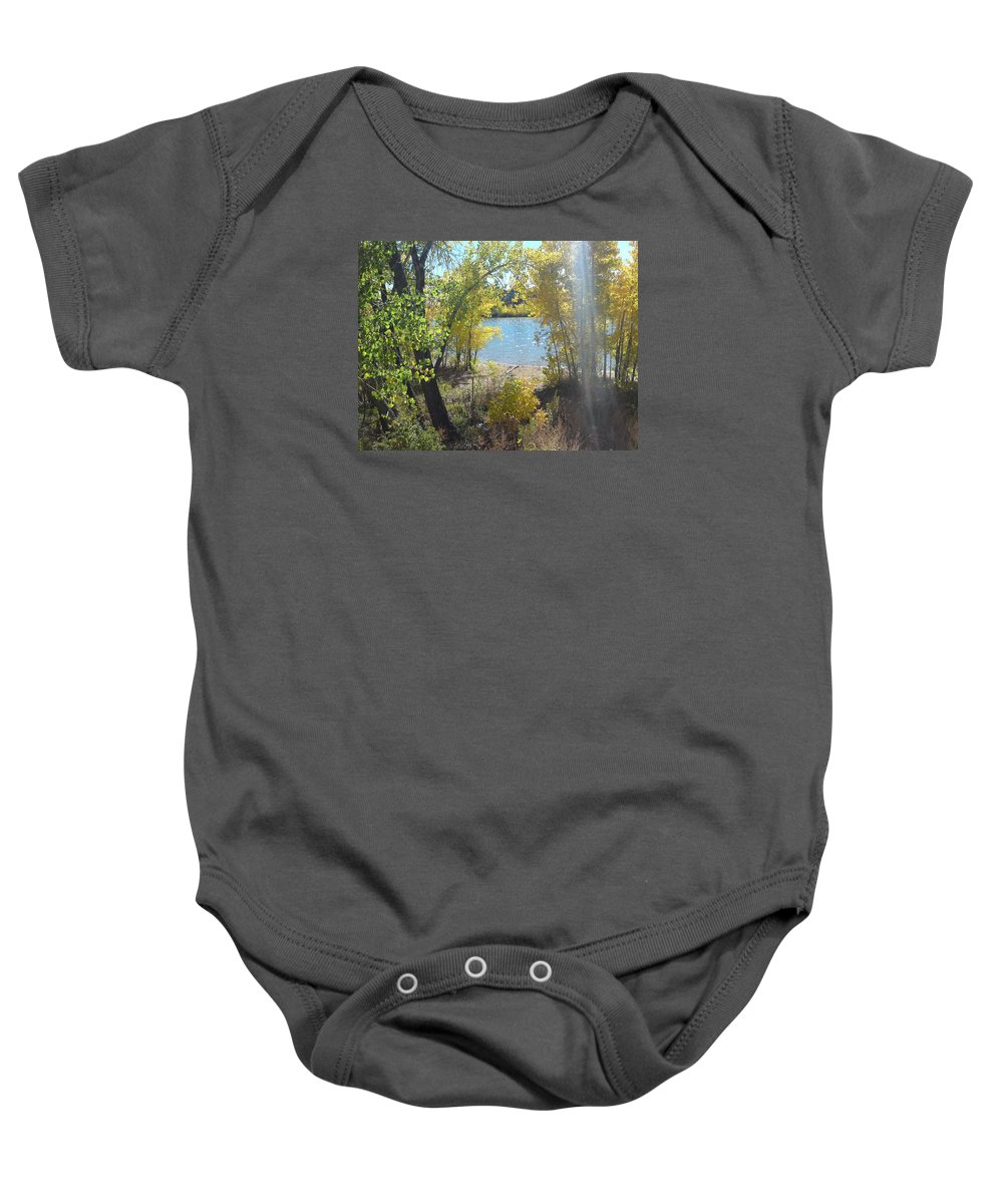 Water Baby Onesie featuring the photograph Sparkle Lake by Gary Simmons
