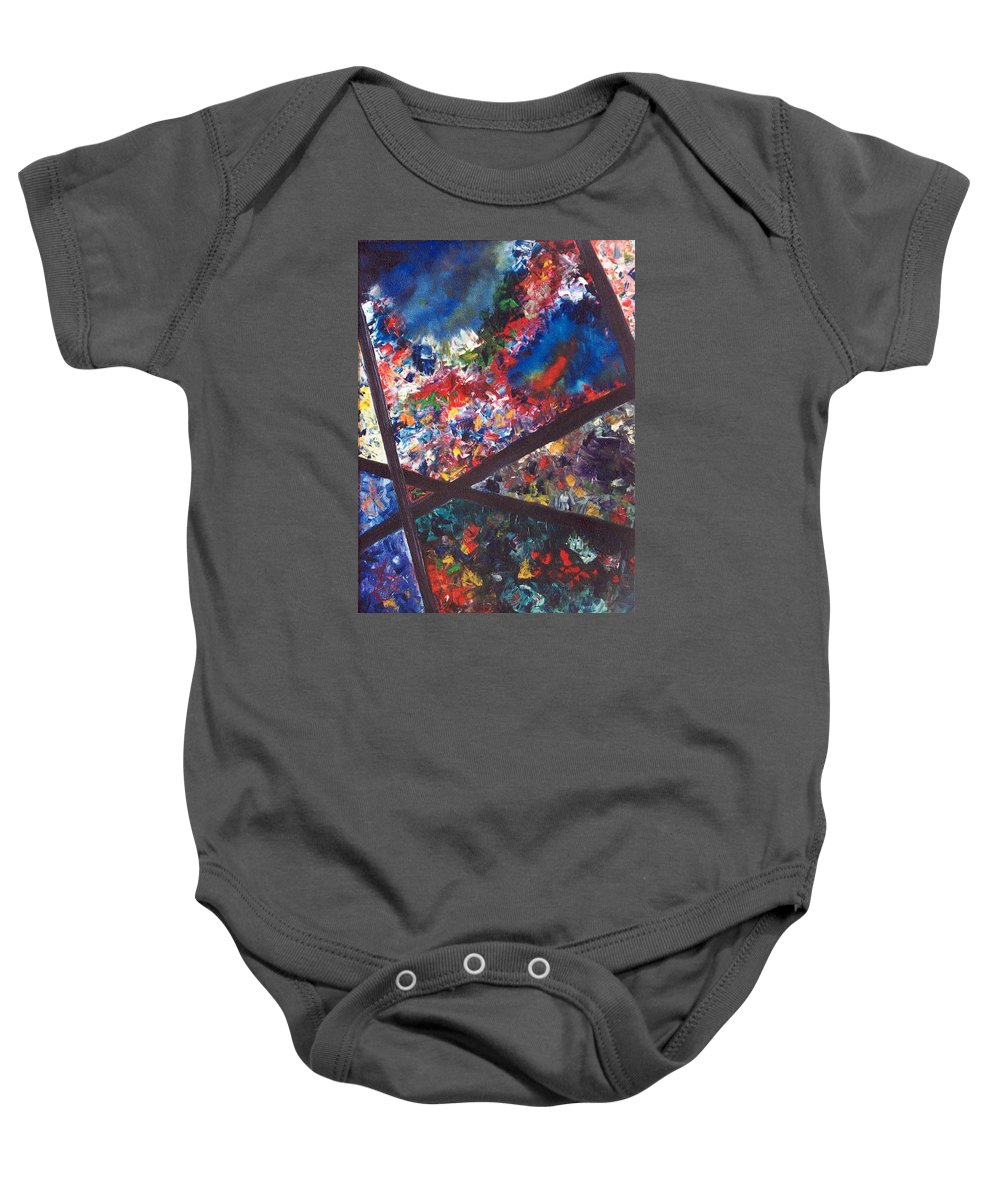 Abstract Baby Onesie featuring the painting Spectral Chaos by Micah Guenther