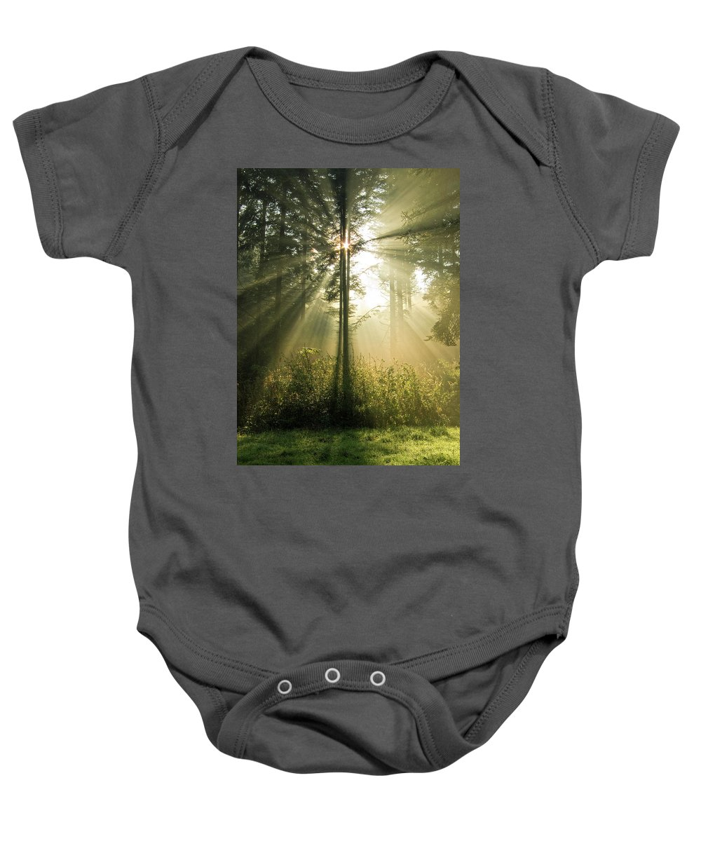 Nature Baby Onesie featuring the photograph Splendour by Daniel Csoka