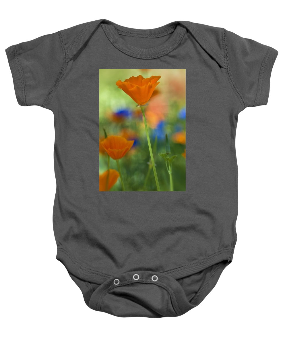 Poppies Baby Onesie featuring the photograph Spring Colors by Saija Lehtonen