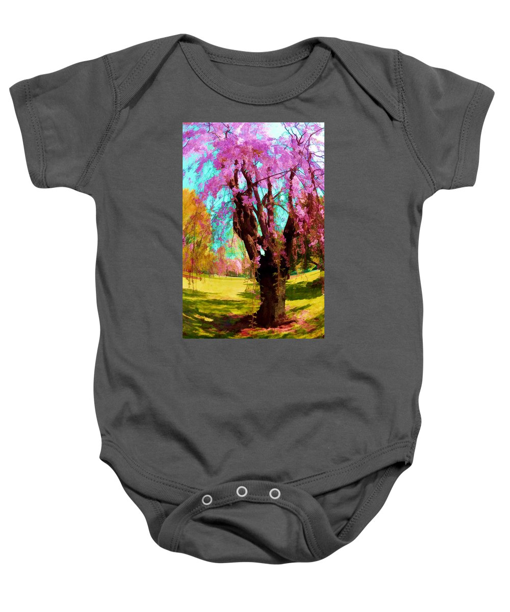 Trees Baby Onesie featuring the photograph Spring Tree V by Tina Baxter