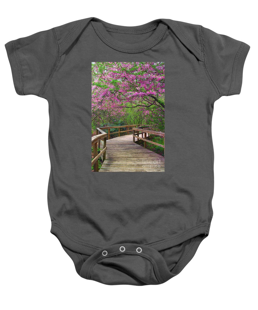 Spring Baby Onesie featuring the photograph Spring Walk by Scott Hervieux