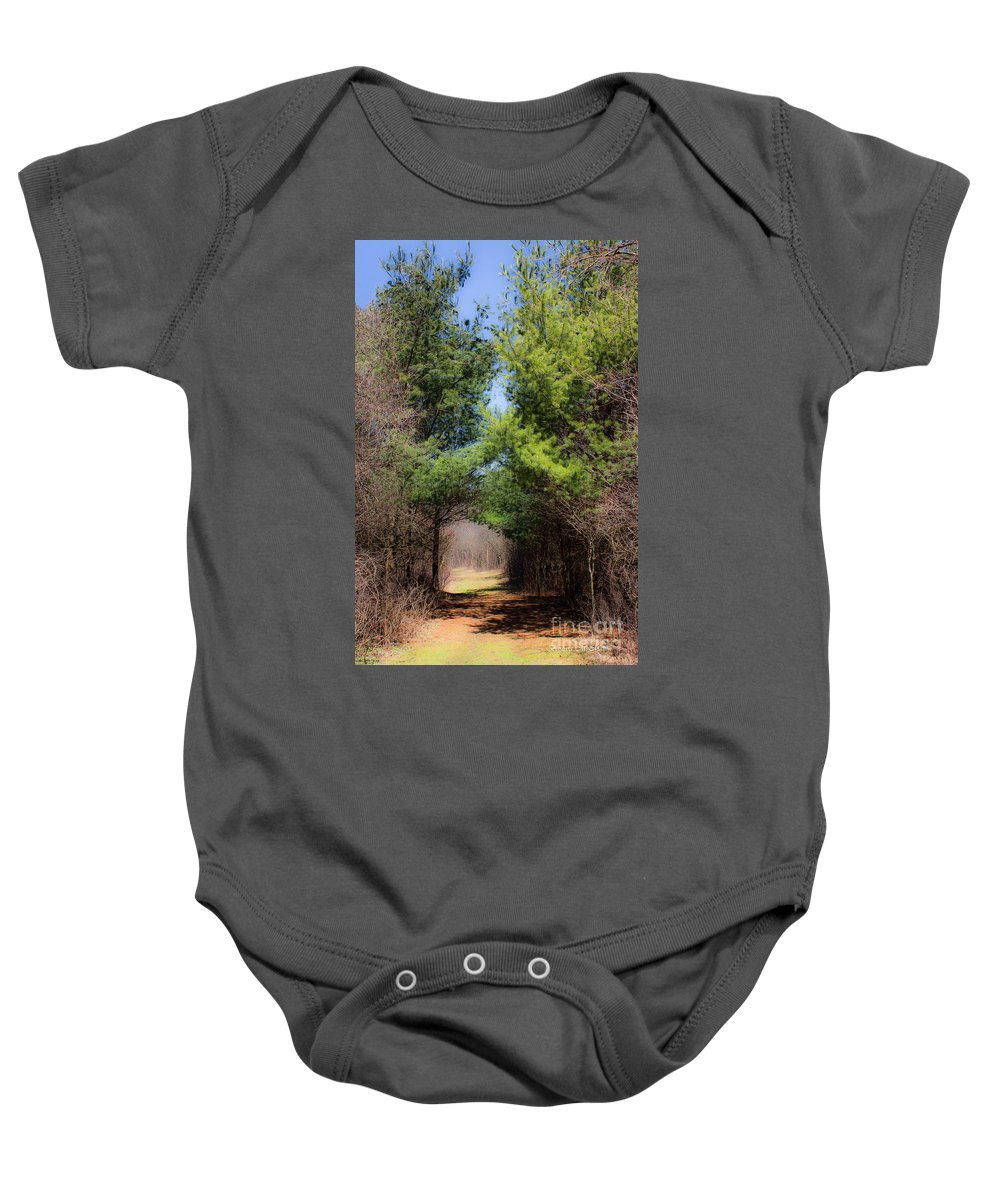 Landscape Baby Onesie featuring the photograph Springs Early Breath by Barbara McMahon