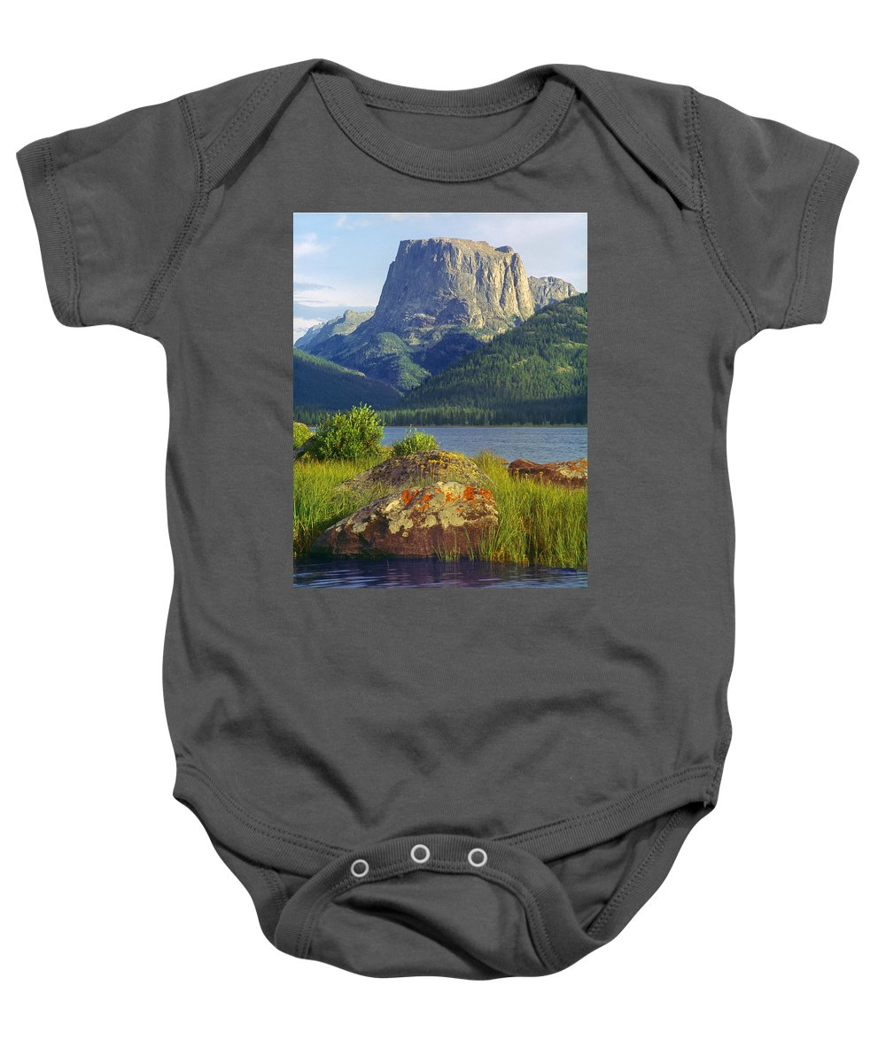 Squaretop Mountain Baby Onesie featuring the photograph Squaretop Mountain 2 by Ed Cooper Photography