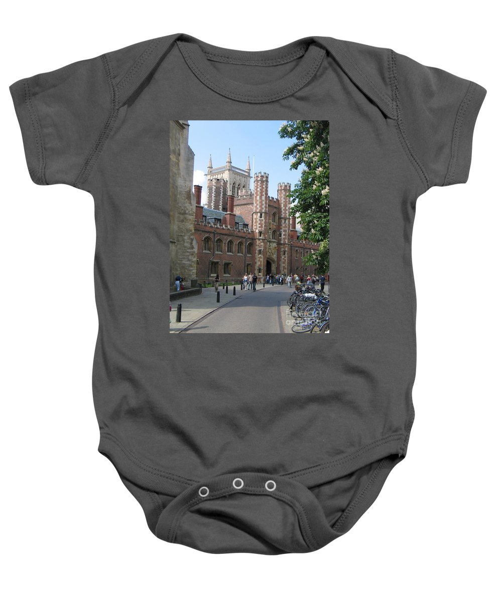 St. John's College Baby Onesie featuring the photograph St. Johns College Cambridge by Jason O Watson
