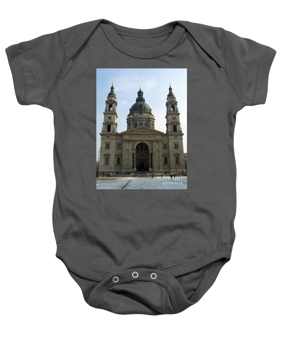St. Stephen's Basilica Baby Onesie featuring the photograph St Stephens Basilica Budapest by Jason O Watson