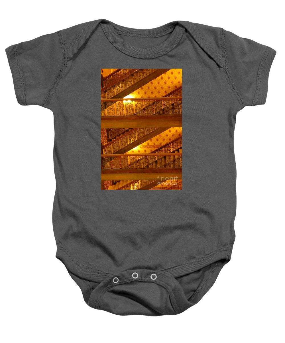 Architecture Baby Onesie featuring the photograph Stairs At The Brown Palace by John Malone