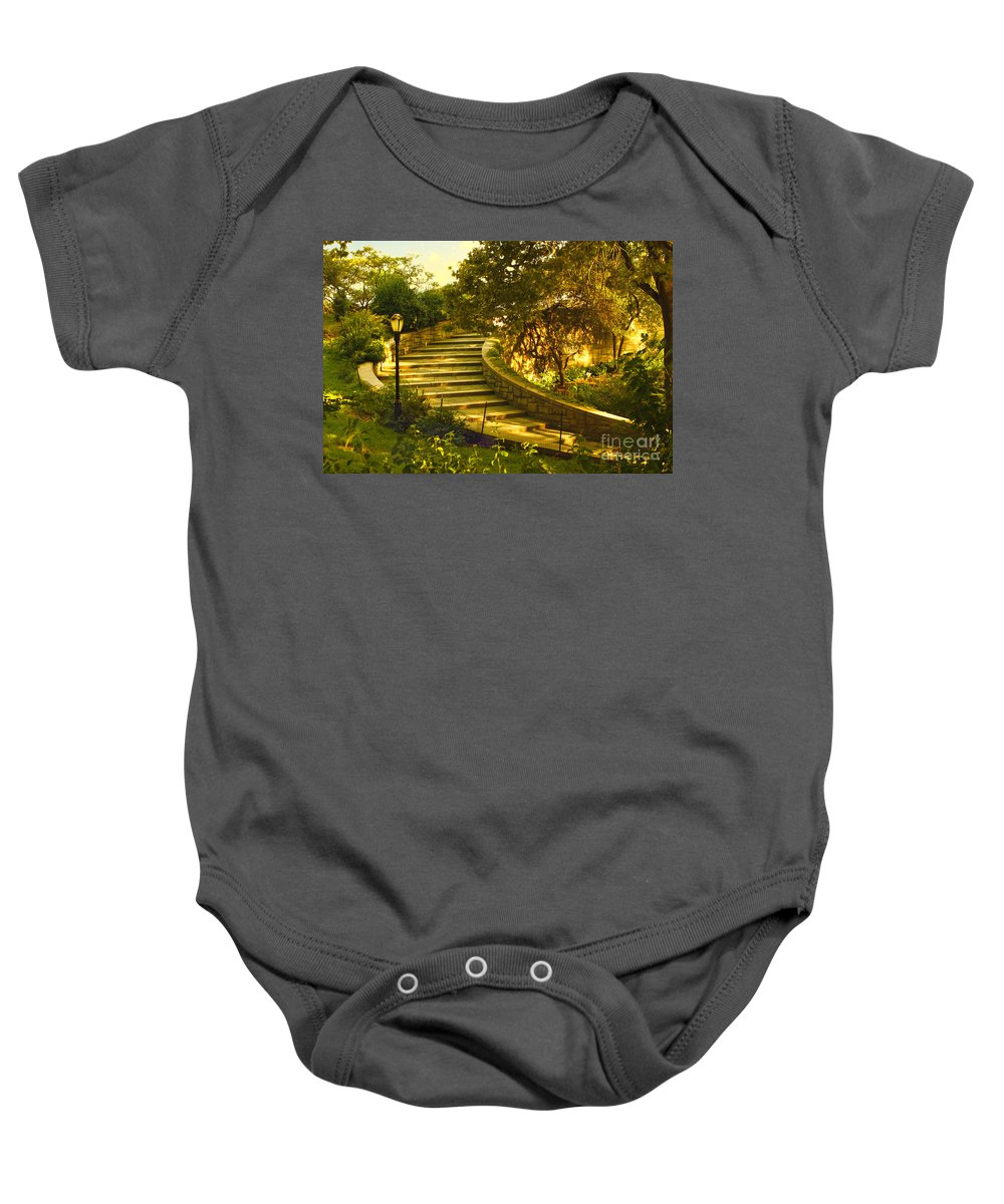 Park Baby Onesie featuring the photograph Stairway To Nirvana by Madeline Ellis