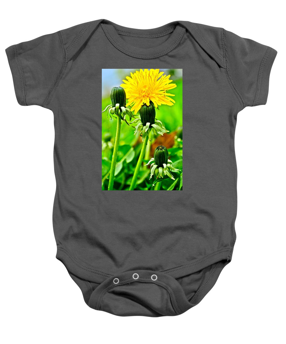 Golden Baby Onesie featuring the photograph Standing Tall by Frozen in Time Fine Art Photography