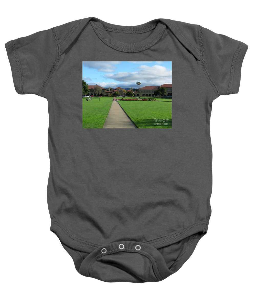 Stanford University Baby Onesie featuring the photograph Stanford University by Mini Arora