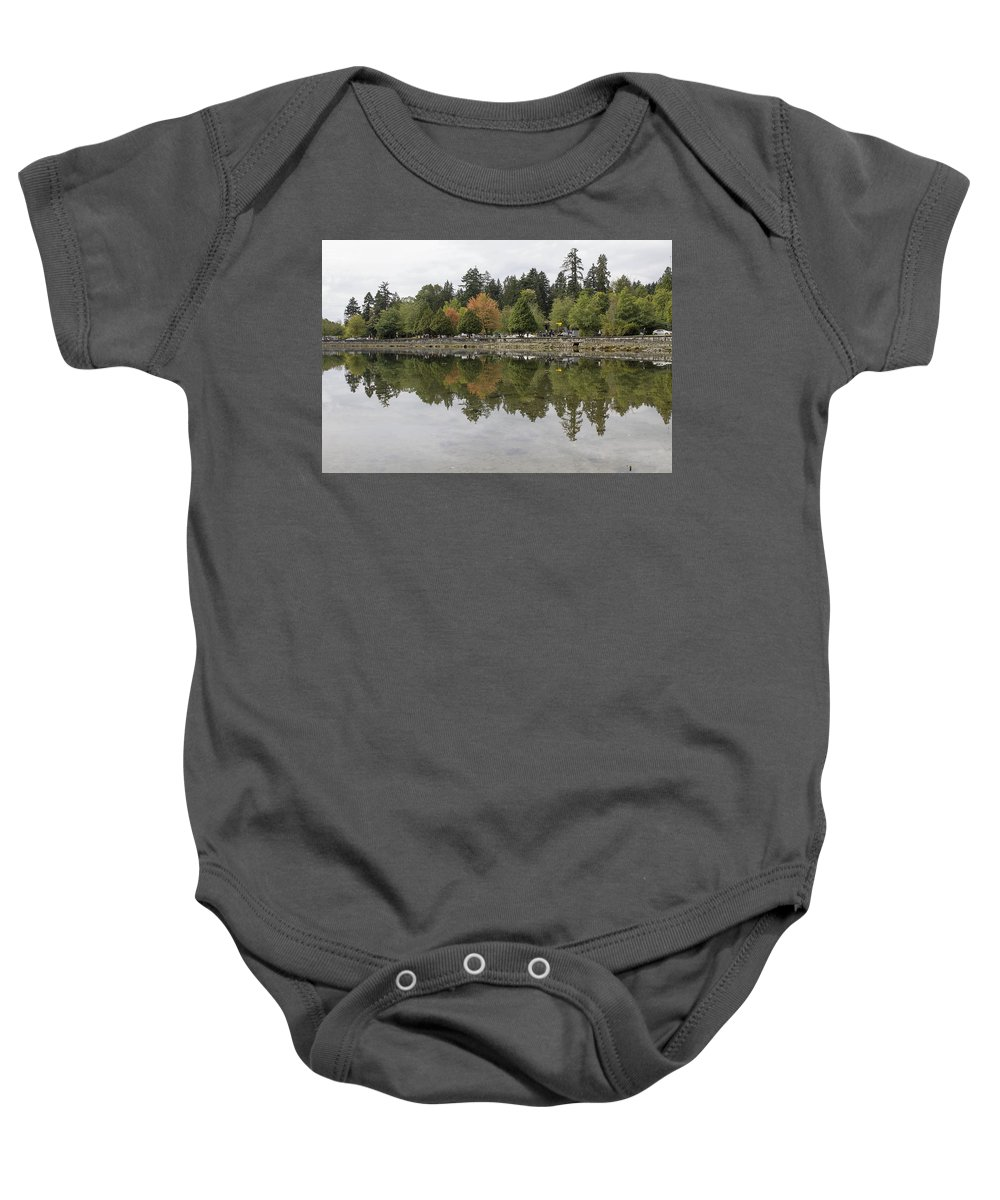Stanley Baby Onesie featuring the photograph Stanley Park In Vancouver Bc Canada by Jit Lim