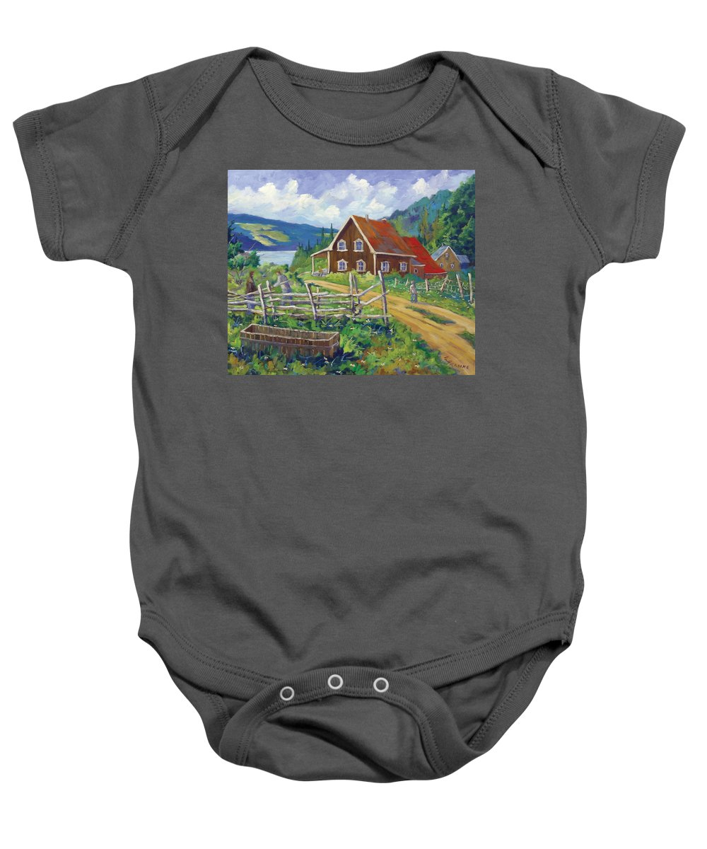 Art Baby Onesie featuring the painting Ste-rose Du Nord by Richard T Pranke