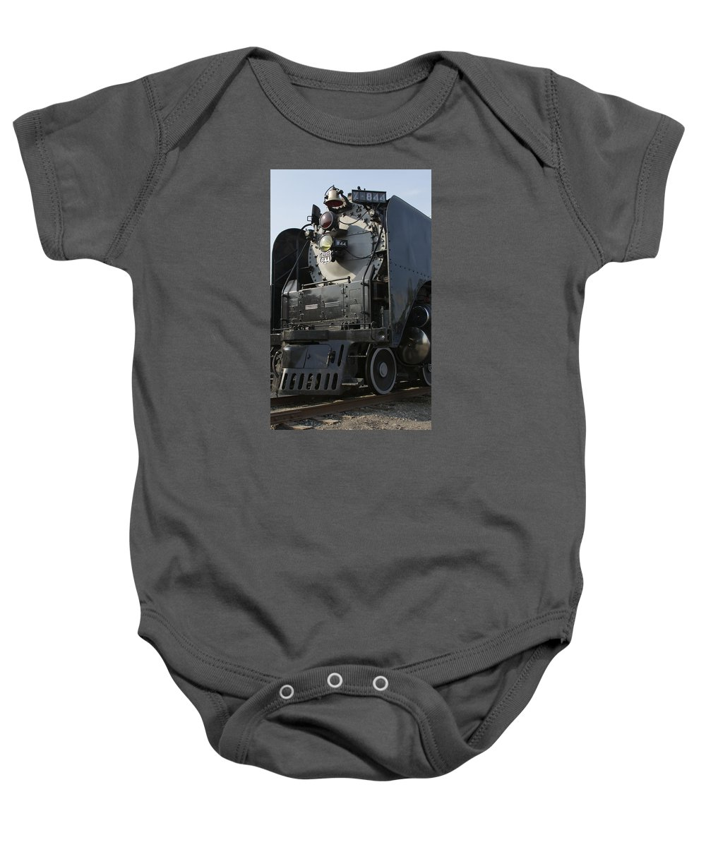 Train Baby Onesie featuring the photograph Steam Engine U P 844 by Jane Eleanor Nicholas