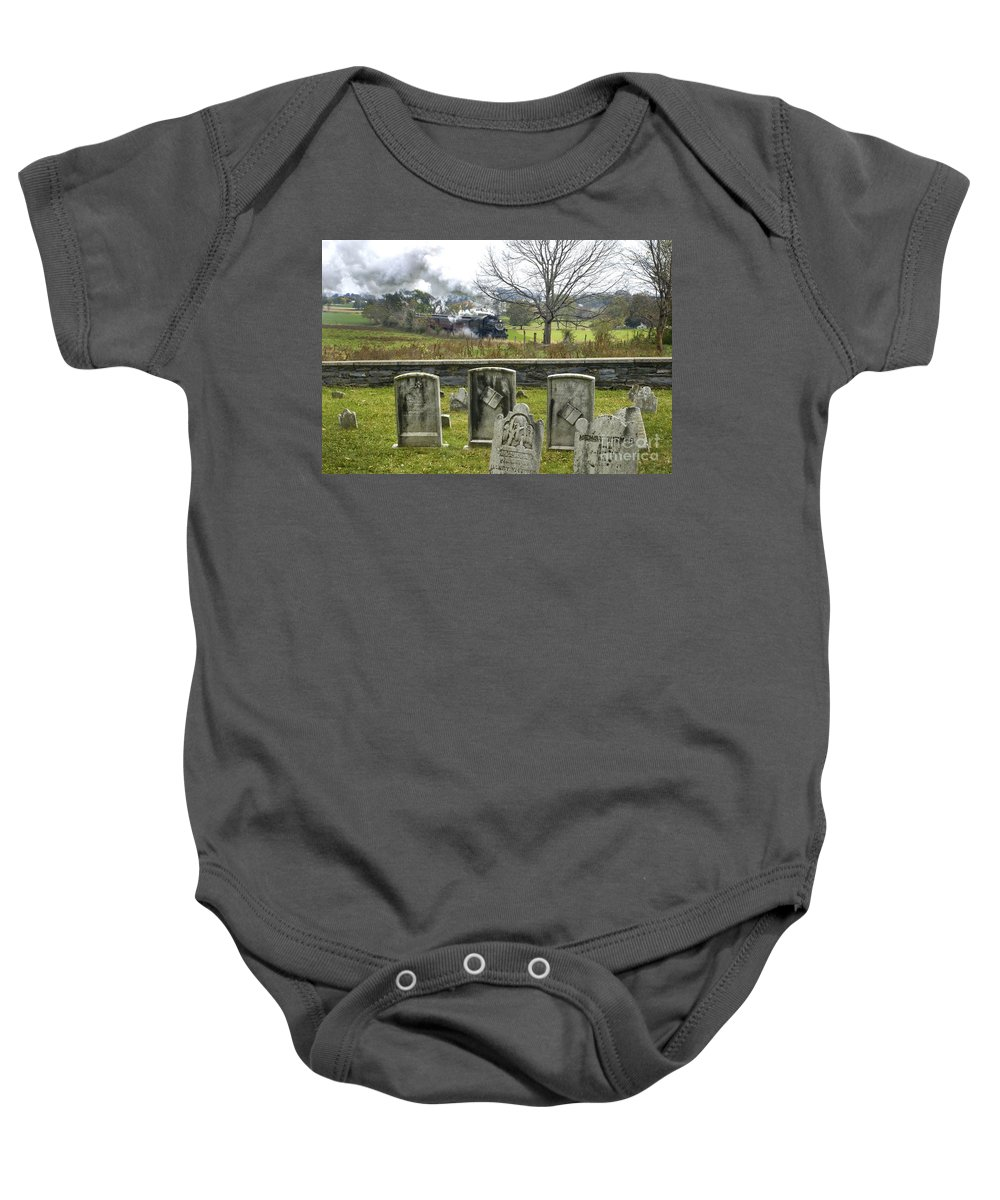 Strasburg Baby Onesie featuring the photograph Steel And Stone by Paul W Faust - Impressions of Light