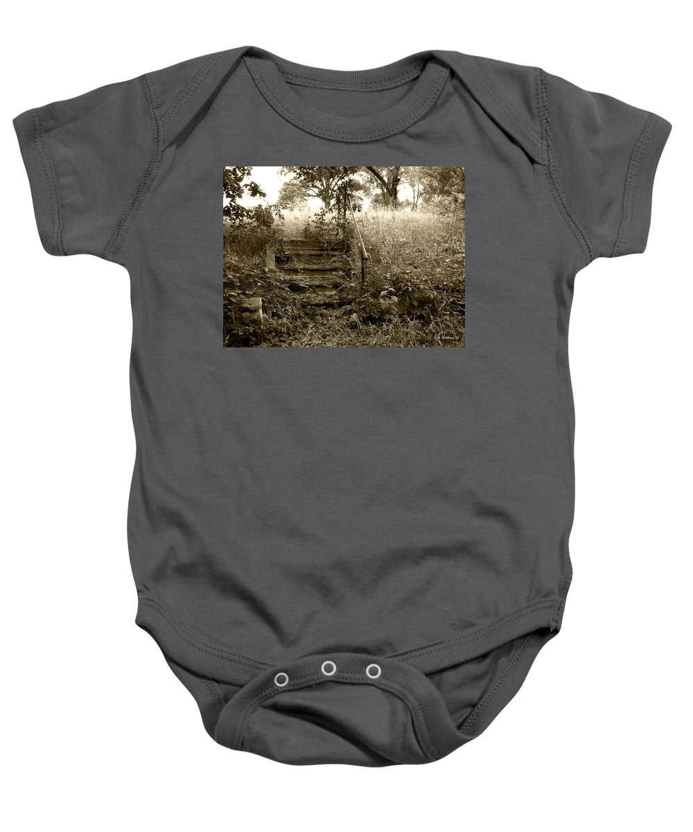 2d Baby Onesie featuring the photograph Steps To Yesterday by Brian Wallace