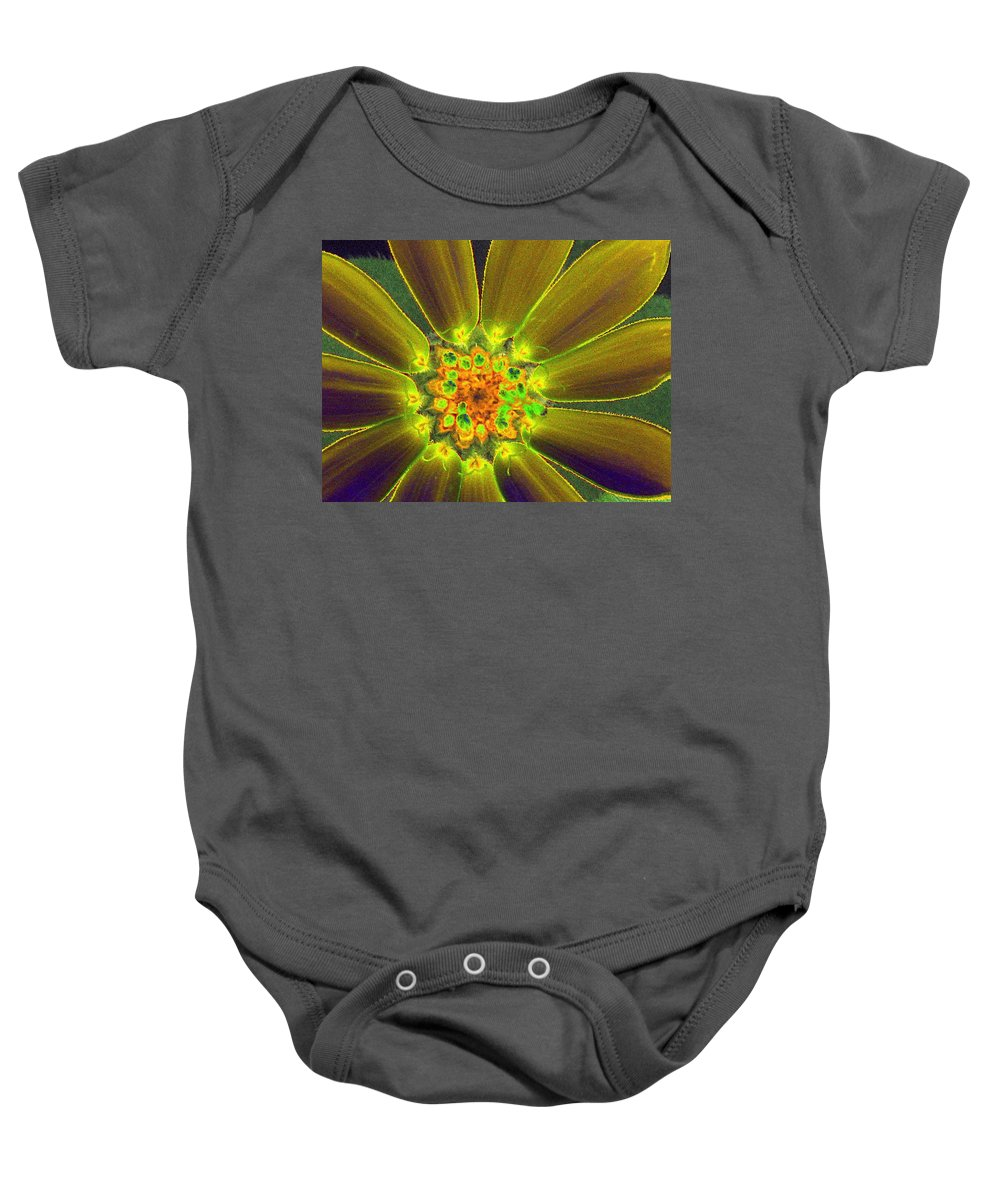 Flower Baby Onesie featuring the photograph Stigma - Photopower 1133 by Pamela Critchlow