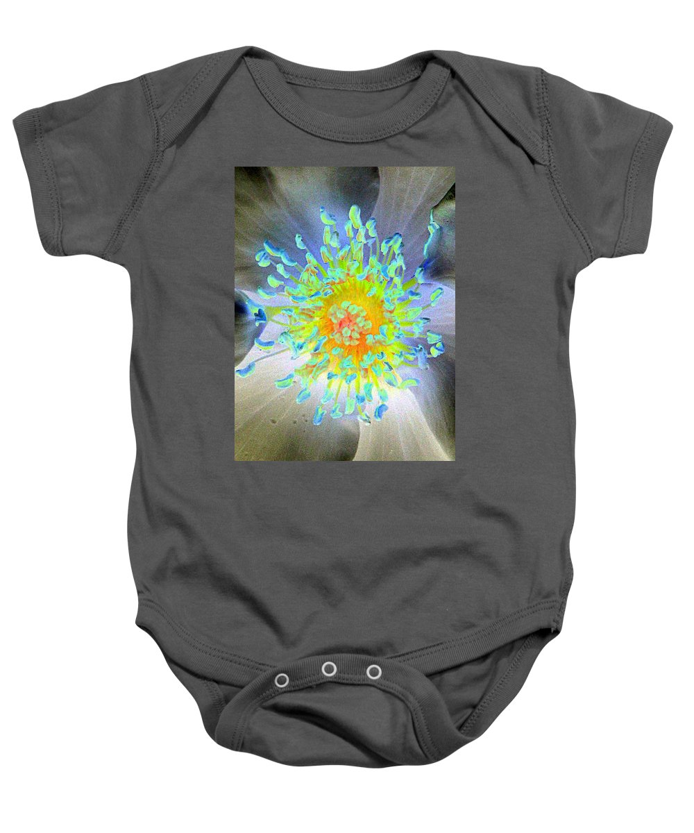 Flower Baby Onesie featuring the photograph Stigma - Photopower 1186 by Pamela Critchlow