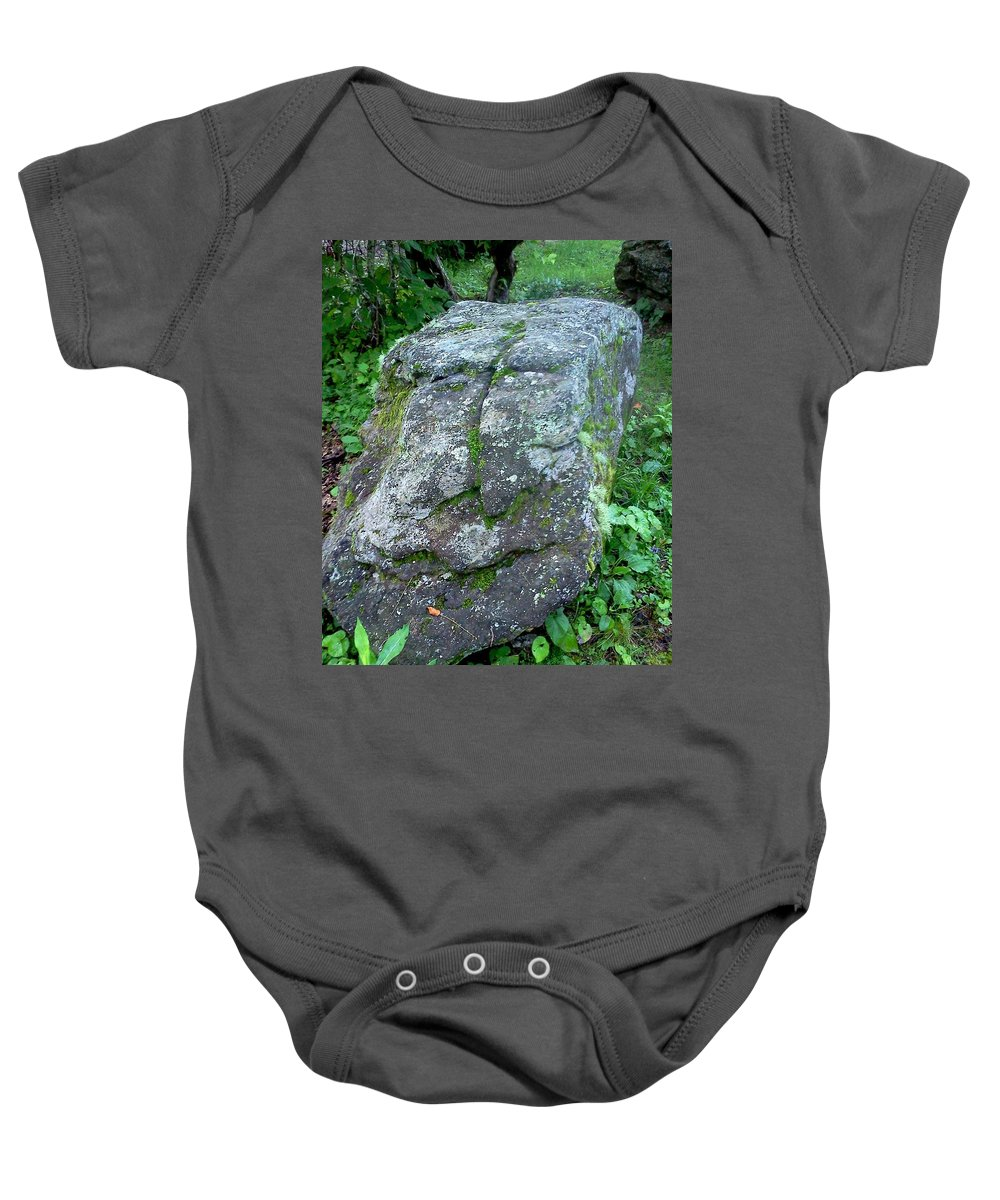 Face Baby Onesie featuring the photograph Stone Face by Stacy C Bottoms