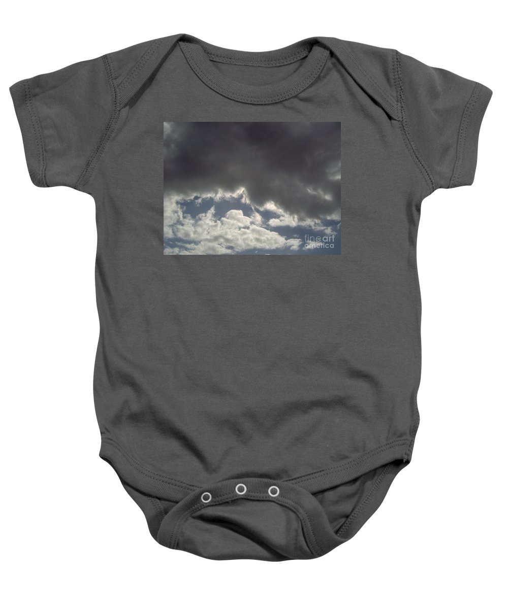 Clouds Baby Onesie featuring the photograph Storm Cloud Overhead by D Hackett