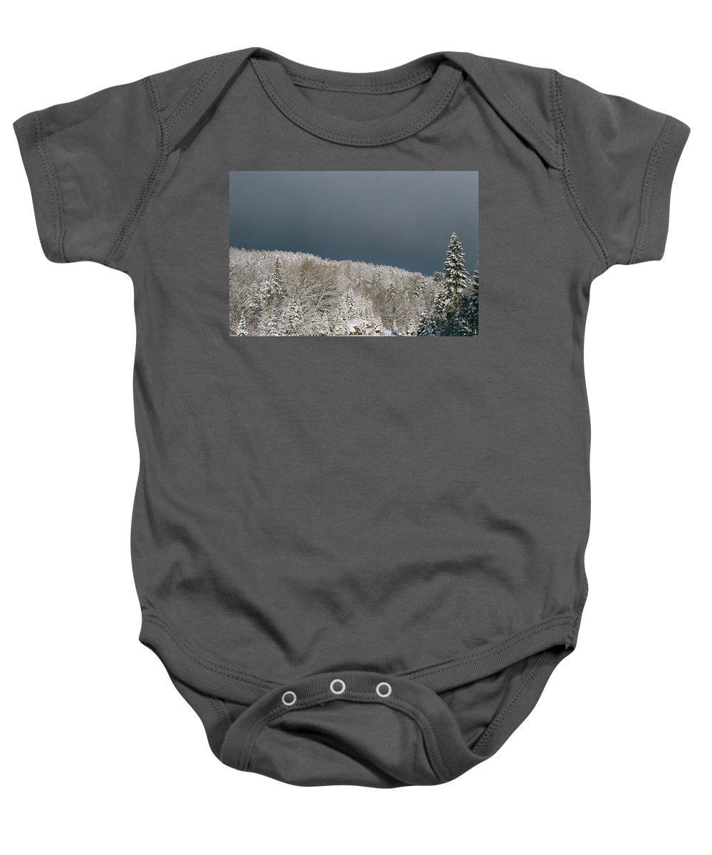 Scenery Baby Onesie featuring the photograph Storm's A'brewin' by David Porteus