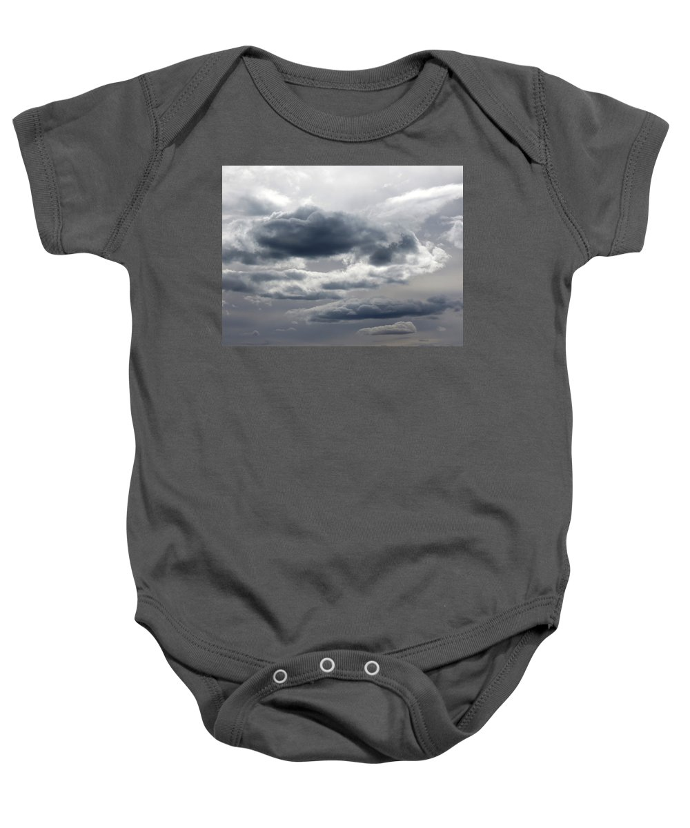 Storm Baby Onesie featuring the photograph Stormy Day by Laurel Powell