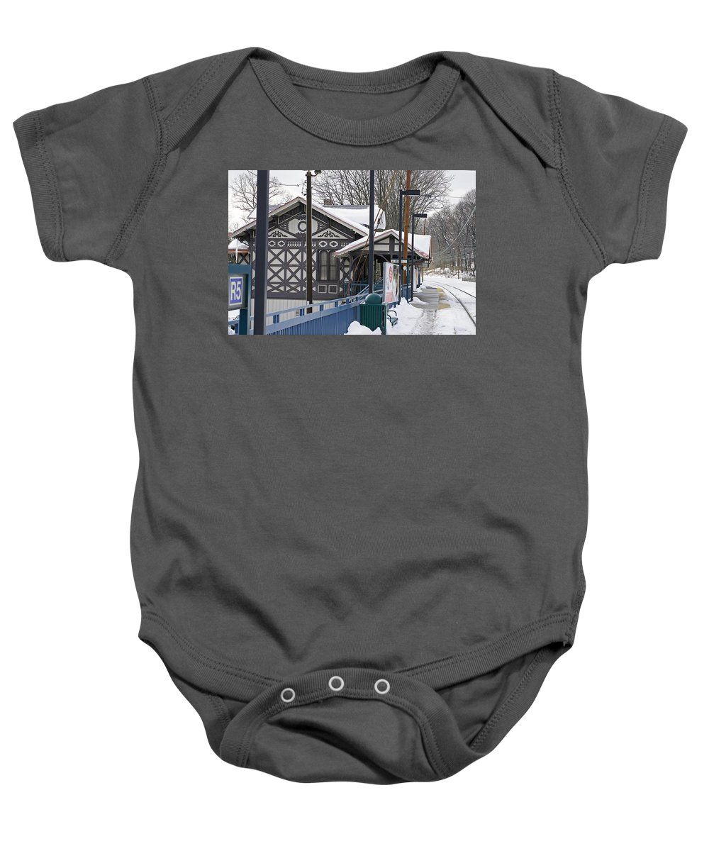 Famous Mainline Strafford Train Station. Victorian Architecture Baby Onesie featuring the photograph Stranded In Strafford by Ira Shander