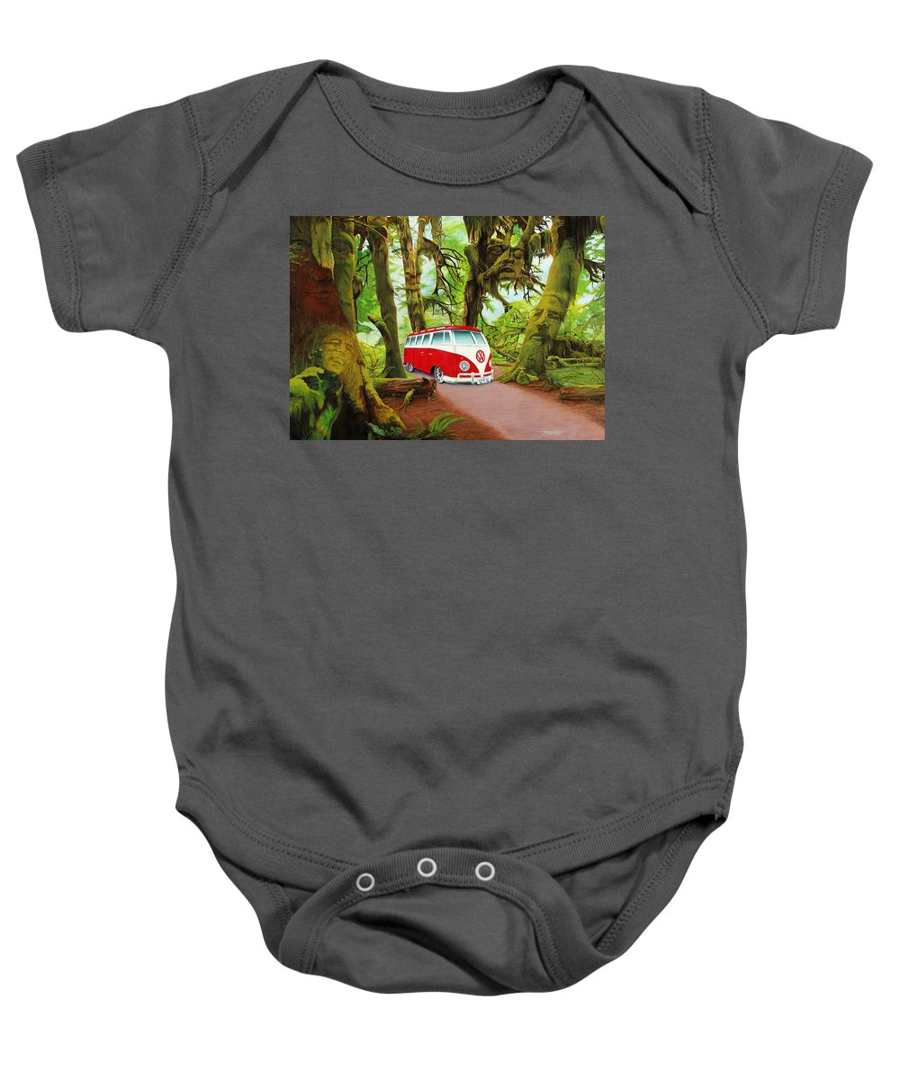 Jerry Garcia Baby Onesie featuring the painting Strange Days by Joshua Morton