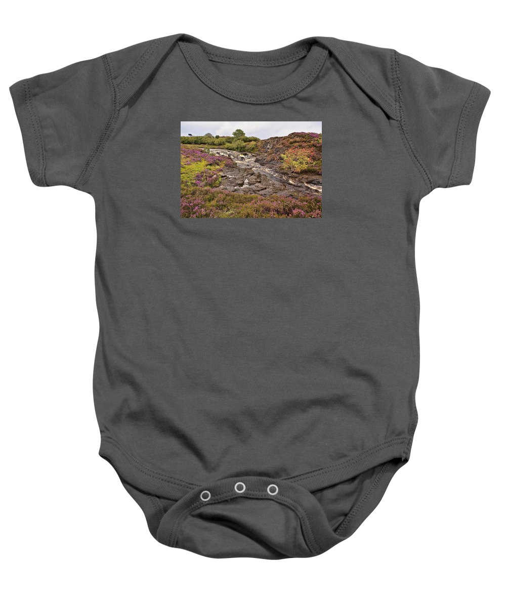 Landscape Baby Onesie featuring the photograph Stream Of Heather by Marcia Colelli
