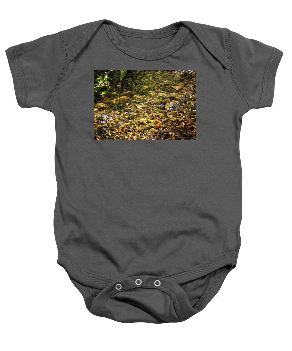 Stream Baby Onesie featuring the photograph Stream Water by Belinda Greb