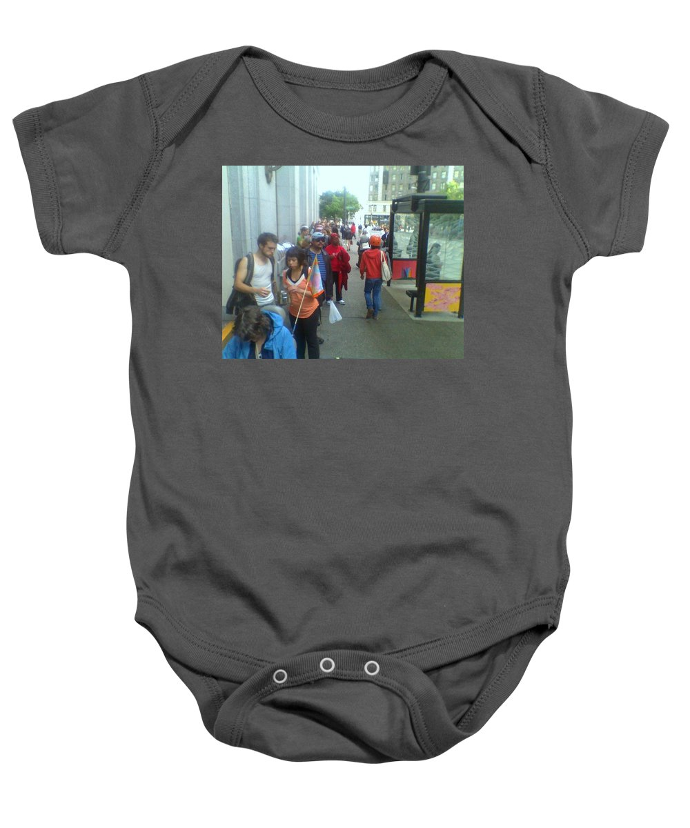 Seattle Baby Onesie featuring the photograph Street Scene by David Trotter