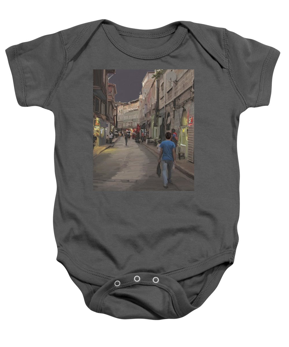 Istanbul Baby Onesie featuring the photograph Sultanhamet by Ian MacDonald