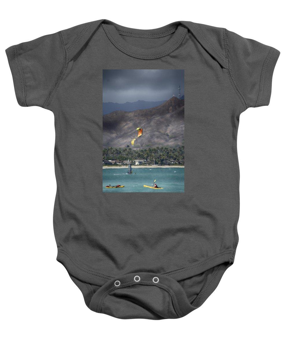 Windsurfing Baby Onesie featuring the photograph Summer Fun by Douglas Barnard