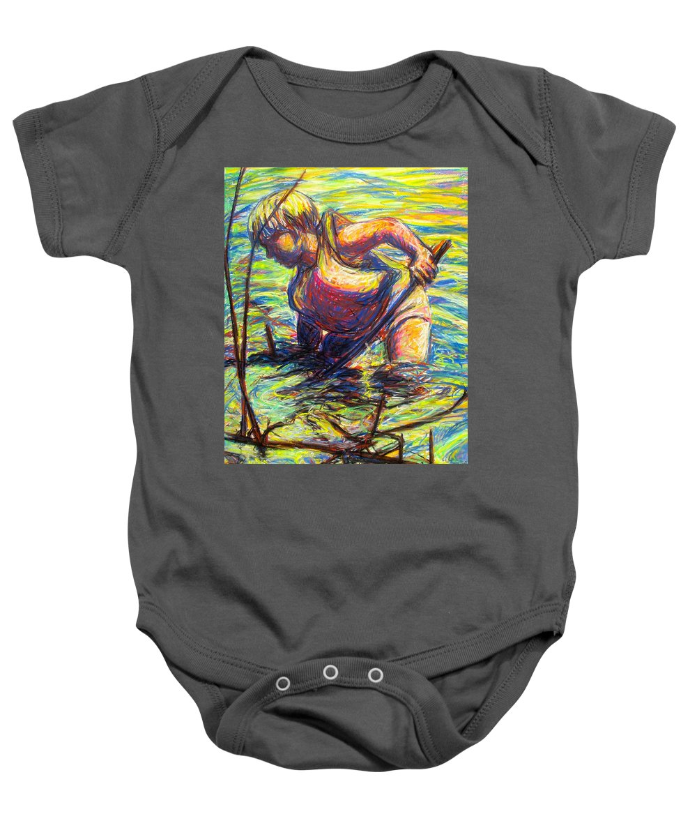 Boy Baby Onesie featuring the painting Summer Fun by Kendall Kessler