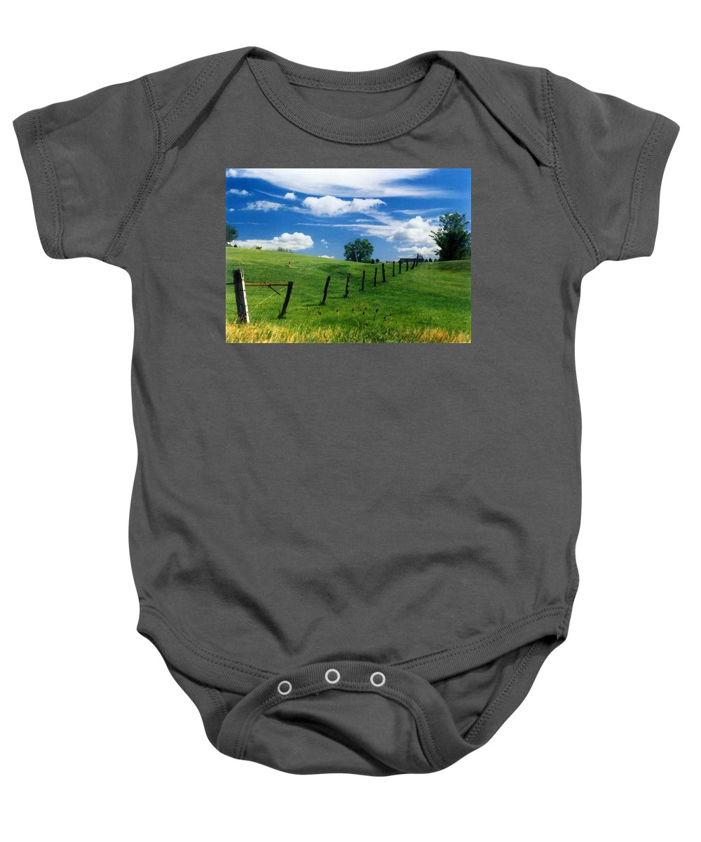 Summer Landscape Baby Onesie featuring the photograph Summer Landscape by Steve Karol