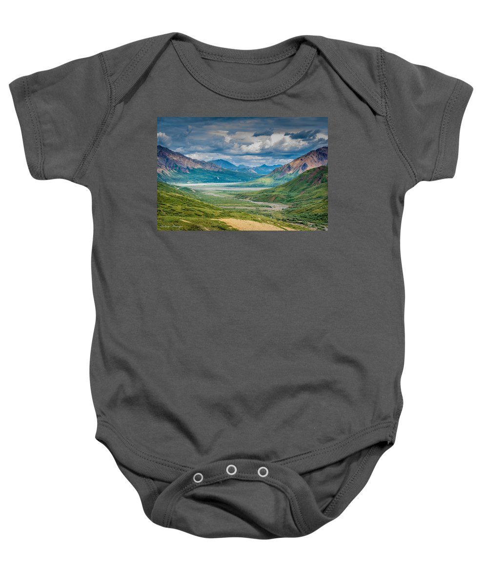 Valley Baby Onesie featuring the photograph Summer Valley by Andrew Matwijec