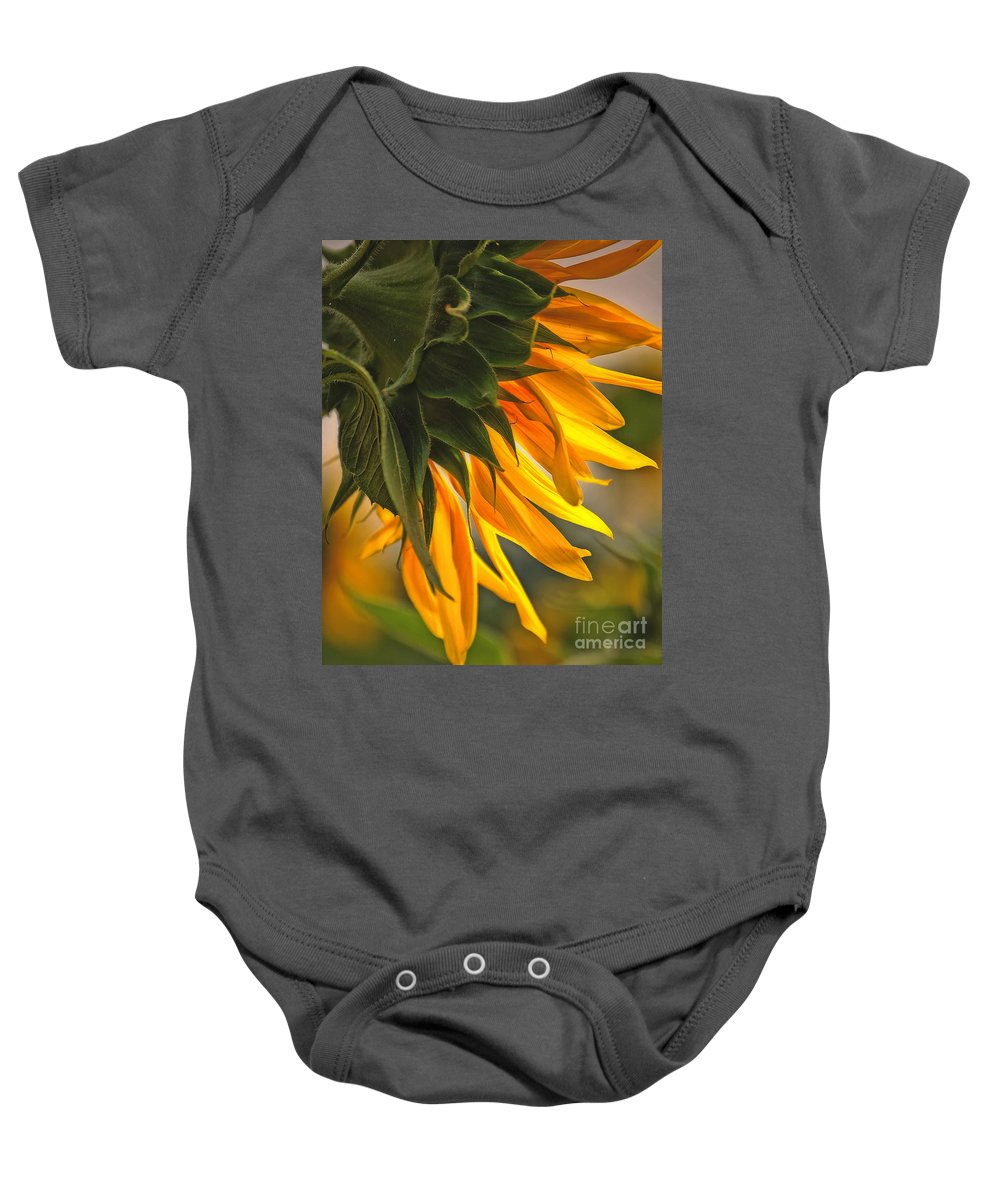 Flower Baby Onesie featuring the photograph Sunflower Farm 1 by Kathleen K Parker